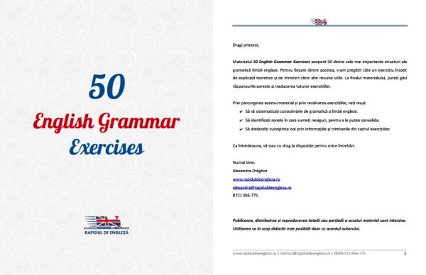 Exercitii de gramatica a limbii engleze
